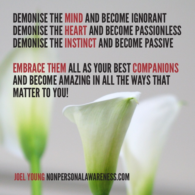 Embrace Mind Heart and Instinct