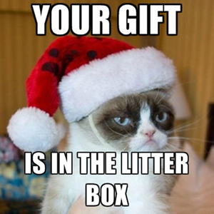 Your Gift... Is in the litter box