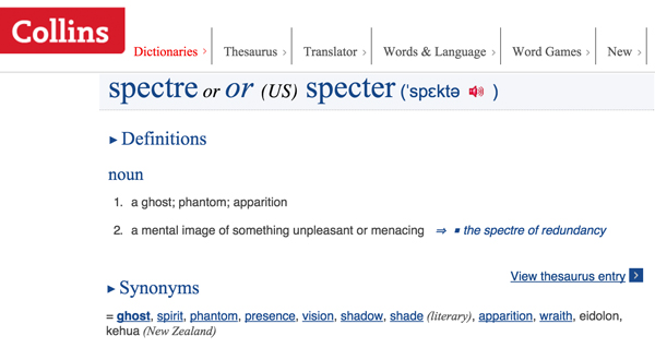 Meaning of Spectre