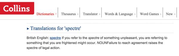 Spectre translations